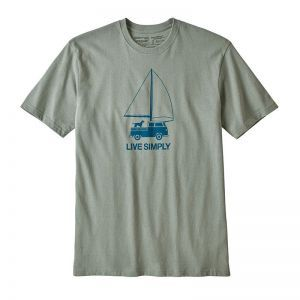 Tricou Patagonia M Live Simply Wind Powered Responsibili-Tee
