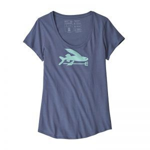 Tricou Patagonia W Flying Fish Organic Scoop