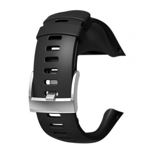 Curea ceas Suunto Spartan Trainer Wrist HR Steel, negru/ argintiu